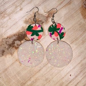'OPAL' TROPICAL BLISS CLAY EARRINGS
